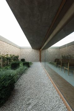 The Courtyard. More houses need these quiet reflective spaces!