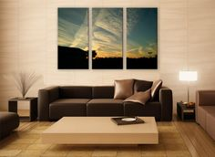 Alabama Gulf Coast Sky Clouds Print 3 Panels Print Wall Decor Fine Art Landscape Photography Repro Print for Home and Office Wall Decoration by ZellartCo TAGS usa america landscape alabama gulf gulf coast sky clouds outdoor photography scenic photography canvas print home decor wall art big print