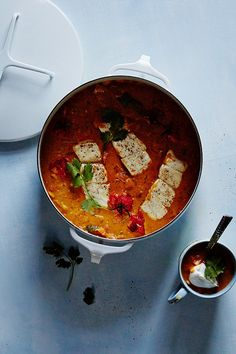 halibut tomato curry, via anthro blog