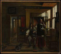 Pieter de Hooch (Dutch, 1629). Interior with a Young Couple, probably ca. 1662-65. The Metropolitan Museum of Art, New York. Bequest of Benjamin Altman, 1913 (14.40.613)