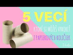(13) 5 VECÍ, ktoré si môžeš vyrobiť z papierových roličiek Vickie - YouTube Paper Crafts, Diy Crafts, Diy Tutorial, Lily, Youtube, Chata, Tissue Paper Crafts, Paper Craft Work, Make Your Own