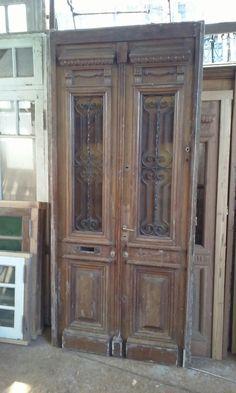 puerta antigua 2 hojas cedro