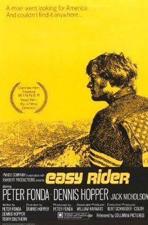 """""""Easy Rider"""" directed by Dennis Hopper / grossing film in I thought this was a great film until I showed it to my kids 25 years later. Biker Movies, Cult Movies, Movies To Watch, Iconic Movies, Easy Rider, Jack Nicholson, 1960s Movies, Vintage Movies, Vintage Posters"""