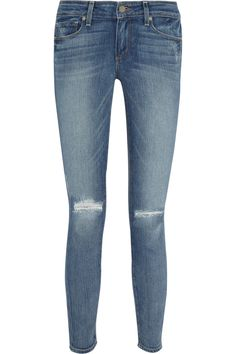Shop for Verdugo distressed mid-rise skinny jeans by Paige at ShopStyle. Superenge Jeans, Blue Ripped Jeans, Mid Rise Skinny Jeans, Distressed Skinny Jeans, Denim Skinny Jeans, Super Skinny Jeans, Denim Belt, Button Fly Jeans, Denim Trends