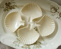 Vintage Lenox Nassau Clam Shell Dishes or Ash Trays by Alyssabeths, $16.00