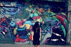 Look gótica com calor + Street Art