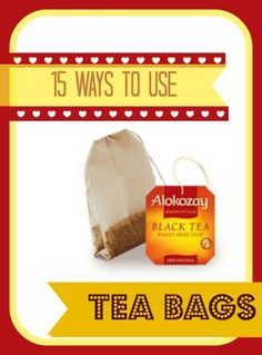 15 ways to reuse your used teabag! Check out and perhaps learn one or two tricks you haven't thought of.