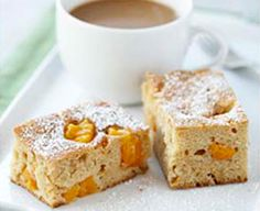 Peach White Chocolate Coffee Cake | BC Tree Fruits
