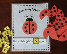 Ladybug interactive counting and addition activity