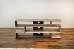 Sumptuous reclaimed wood tv stand in Living Room Contemporary with next to Flat Screen alongside and Wood Media Console