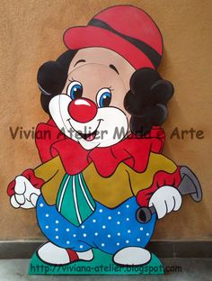 Cenário de Chão - Palhaço (Rosto Vazado/Removível) Circus Birthday, Circus Theme, Art Drawings For Kids, Drawing For Kids, Foam Crafts, Paper Crafts, Clown Crafts, Atelier Creation, Activities For Kids