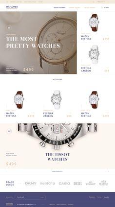 Watches luxury homepage by Andrej Krajčir