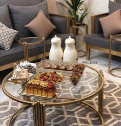 Coffee Presentation, Arabian Beauty, Pajama Party, Buffet, Table Settings, Table Decorations, Living Room, Diy, Hospitality