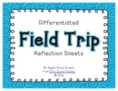 These Field Trip Reflection Forms will be perfect for your students to fill out after coming back to school from a long field trip day or the next . Instructional Strategies, Differentiated Instruction, Too Cool For School, Back To School, School Stuff, Poetry Journal, Virtual Field Trips, Classroom Activities, Classroom Ideas