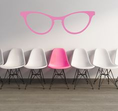 Wall Decal Hipster Glasses