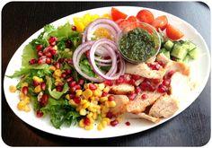 Kyllingsalat med granateple (Linda Stuhaug)