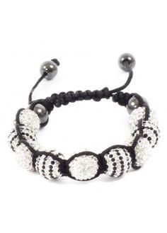 Black & White Shamballa Bracelet
