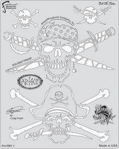 """Artool Freehand Airbrush Templates, Tell No Tales Template by Iwata-Medea. $25.99. Precision, laser-cut templates for highly detailed effects. Versatile extras on every template - old school flames, real curves, circles, bullet holes, rips and tears, broken glass. Solvent Proof great with both solvent and water-based paints. Three large (6"""" x 10"""") and three medium (5"""" x 8"""") templates per set. Save time cutting frisket or acetate masks, no software or plotters neede..."""