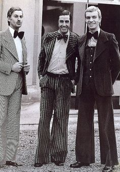 The Tommy Nutter Look for Women - Les Merveilleuses 70s Fashion, Fashion History, Vintage Fashion, Fashion Men, Fashion Ideas, Fashion Guide, Vintage Outfits, 1920 Men, Types Of Jackets