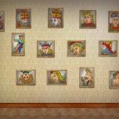 Quelle famille ! Il doit y en avoir des cadavres dans les placards avec tous ces zouaves !   Les cartes du tarot, vues par Vincent Beckers.  Plus de choses sérieuses, celles-là, sur le site de Vincent Beckers : www.cours-de-tarot.net
