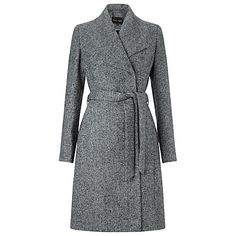 Buy Phase Eight Devyn Belted Coat, Salt/Pepper Online at johnlewis.com