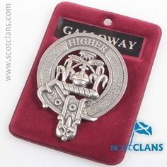 Galloway Clan Crest Badge. Free worldwide shipping available