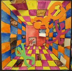 surreal hallways by fifth graders