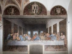 iGuzzini adopts Leonardo da Vinci's The Last Supper #Lightisback #iGuzzini #Palco #LeonardodaVinci #artwork #Italy #art #Cenacolo