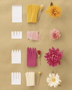 Tissue flowers - making them this summer for a special project.
