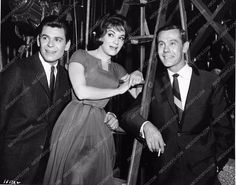 photo Jim Hutton Connie Francis Johnny Carson candid Looking for Love 2818-04