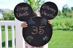 Make a countdown chalkboard.   36 DIYs That Will Get The Whole Family Psyched For A Disney Vacation