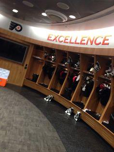 Flyers Locker room during a PSA shoot.