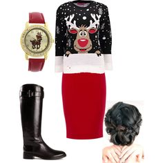 A fashion look from December 2014 featuring Boohoo sweaters, Finders Keepers tops and Jaeger skirts. Browse and shop related looks.