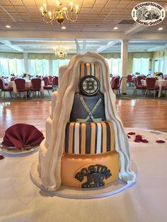 Boston Bruins Wedding Cake #BostonBruinsWeddingCake