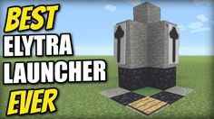 Minecraft - best elytra launcher ever [sky limit in 0 seconds