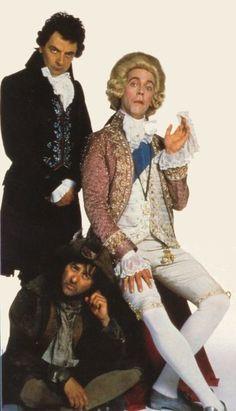 Rowan Atkinson, Hugh Laurie & Tony Robinson in Black Adder