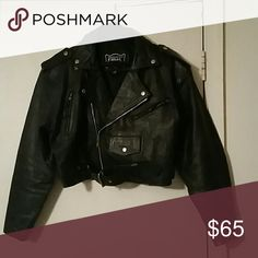 Leather motor cycle jacket Ladies med in very good condition Jackets & Coats Jean Jackets