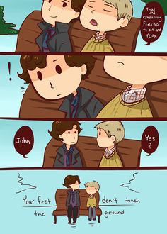 Oh my Goodness!!! Can I marry John Watson right now??? Because I meet don't touch the ground like that either! <3