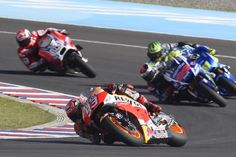 Marc Marquez race action shot