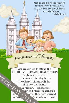 Latter-Day Chatter: Primary Program Invitation