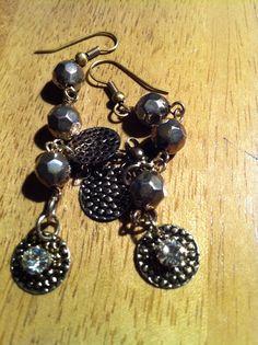 Bronze drop chain earrings  on Etsy, £5.99