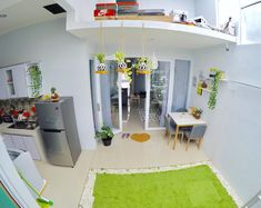 Desain Rumah Unik Tipe 45 m: Meski Mungil, Ada Indoor Garden!