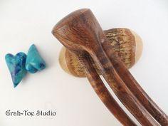 Hair Fork HairforksCurly Koa  Wood Hair Fork by grahtoestudio