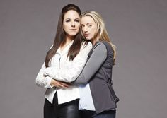Lost Girl - Anna Silk as Bo and Zoie Palmer as Lauren Lost Girl Bo, Anna Silk, Lost Girl Fashion, Bo And Lauren, Lotr, Looking For Women, Fangirl, Leather Pants, Tv Shows