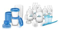 Philips Avent Classic Plus Starter Set with Milk Storage Cups Includes BONUS Baby Haven Steam Sterilizer Bag ** You can get additional details at the image link.-It is an affiliate link to Amazon.