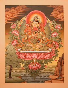 Padmasambhava. Buddhist Tangka. Guru Rinpoche Padmasambhava