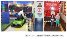 kidzania photos in bangkok, thailand: automotive kid's job, firemen kid's job