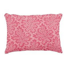 "Abstract Pink Polyester Accent Pillow 16"" x 12"" #pillow #accentpillow #throwpillow #homedecor #interiordesign #fashion #style #trend #homedecorating #interiordecorating #roommakeover"