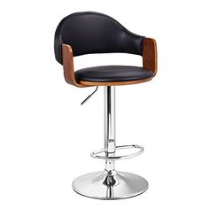 Adeco Best Sellers Extremely Comfy with Extra Padding Larger Seat black Modern Adjustable Swivel Hydraulic bar Stools Low Back Accent Chair Restaurant Home Walnut Matt Black *** See this great product-affiliate link. Cool Bar Stools, Bar Stools With Backs, Bar Stool Chairs, Counter Height Bar Stools, Swivel Bar Stools, Dining Chairs, Contemporary Bar Stools, Modern Bar Stools, Restaurant Furniture