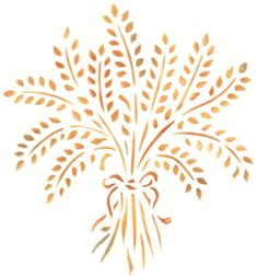 Stencil Details for Large Provence Wheat Bundle - r1013l